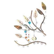 earring tree stand holder molten metal leafy australia nz wooden necklace