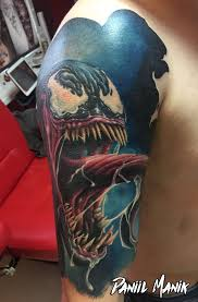 Daniil Manik Marvel Venom Daniilmanik Tattoo Venom Tattoos