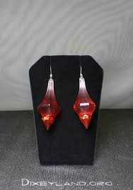 ruby red chandelier drop acrylic fashion earrings
