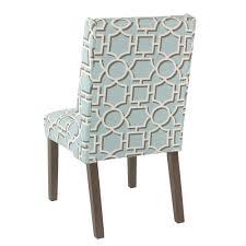 homepop dinah modern dining chair aqua lattice set of 2 k7700 a838 y191 pair k7700 a838 y191 back