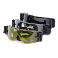 LN203 Tactical <b>Military</b> CS <b>Airsoft</b> Goggles <b>Army Hunting Shooting</b> ...