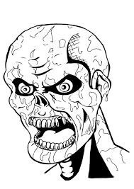 Free Zombies Coloring Pages Golfclub