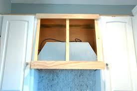 wooden range hood cover how to a custom for under kitchen vent diy storage tutorial decorat