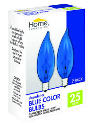 home luminaire 25 watt br38 chandelier flame tip blue color light bulbs 2 pack at menards