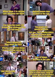 office cliches. The Office. Everyone Tries To Get Phyllis Say Cliches About Rain Office A