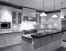 black and white kitchen design pictures. monochrome kitchen design with diy hanging lamp black and white pictures o