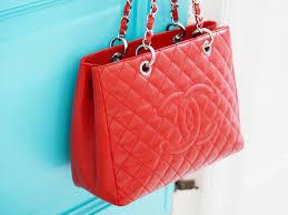chanel red gst handbag bag tote pre loved