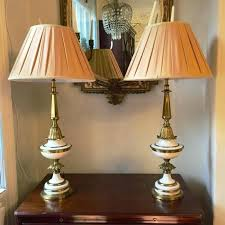 stiffel lampshades pair of paint and brass lamps looking for antiques lampshades for stiffel lamps stiffel lamp shades
