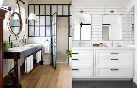 Modern farmhouse bathroom remodel ideas Bathroom Makeover Modern Farmhouse Bathrooms House Of Hargrove Modern Farmhouse Bathrooms House Of Hargrove