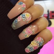 Acrylic flower nail designs - how you can do it at home. Pictures ...