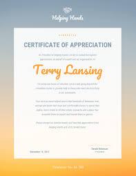 Certificate Of Appreciation Volunteer Work Venngage The Online Certificate Maker