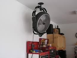 image of best ceiling fan for garage storage