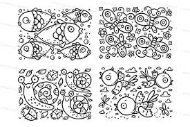Color the pages with them and that is also called a mother and child bonding. Set Of Coloring Pages For Preschoolers With Simple And Cute Animals By Optimistic Kids Art Thehungryjpeg Com