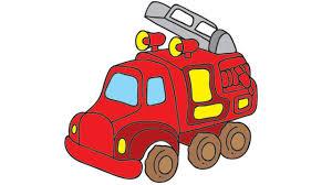 Coloriage Camion Pompier Couleur