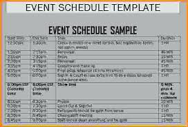 Event Itinerary Template Enchanting Event Schedule Template Simple Thus Word Conference Agenda