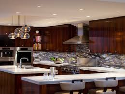 Recessed Lights Kitchen Interior Led Recessed Lights With Grey Granite Countertop Wooden