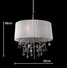 White Drum Light White Drum Lamp Shade Modern Crystal Chandeliers Pendant Lights Buy Shade Crystal Pendant Crystal Shades Lighting Crystal Drum Shade Chandelier