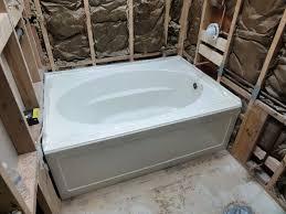 installing a kohler acrylic windward tub k 1113 60 x 42 within idea 5