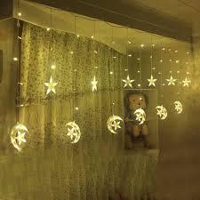 lighting curtains. Ice Led String Strip Light Moon Stars 138leds 250CM Length Fairy Lights Christmas Window Curtains Party Lighting G