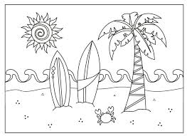 Summer Coloring Pictures Printable Coloring Pages