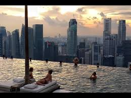 infinity pool singapore. Marina Bay Sands Skypark Infinity Pool Singapore In 4K - World\u0027s Highest On 57th Floor O