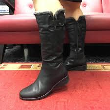 winter wide calf boots with genuine sheepskin piesanto 185981