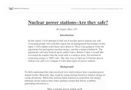nuclear power stations gcse science marked by teachers com document image preview