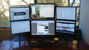 dual monitors home office ideas