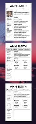25 Unique Resume Templates Ideas On Pinterest Resume Ideas
