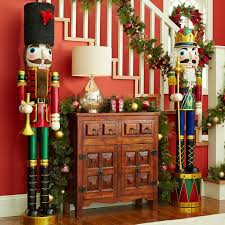 Let a couple of life-size nutcrackers stand guard to give Christmas  visitors a royal