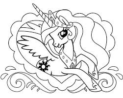 Small Picture Pony Princess Celestia in Love Frame My Little Pony Coloring