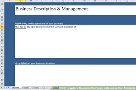 Operation Plan Outline How To Write A Business Plan Using A Business Plan Template