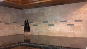 Kitchens With Uba Tuba Granite Tile Backsplash And Glass And Travertine Tile Installation Uba