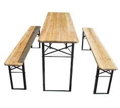 sentinel westwood outdoor wooden folding beer table bench set trestle garden steel leg