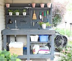 how to make a gorgeous diy potting bench from free pallet wood