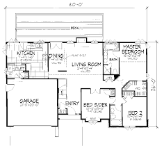 one story floor plans with dimensions. Contemporary With Ranch House Plan First Floor  072D0666  Plans And More With One Story Dimensions N