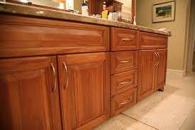 Custom Lyptus Cabinets for a bathroom