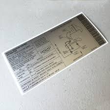 emission sticker for engine lid 911 964 1990 car bone pl carbone porsche catalyst sticker 1990 1 964 006 109 02