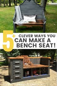 furniture upcycling ideas. Creative Ways To Make An Upcycled Bench From Repurposed Furniture / Grillo Designs Www.grillo Upcycling Ideas