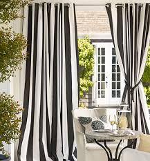 Office drapes Decor Pad Sunbrella Awning Stripe Photos Hgtv Curtain Styles Types Of Curtains Pottery Barn