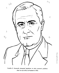 Small Picture Free printable President Franklin D Roosevelt facts and coloring