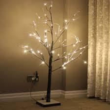 indoor christmas lighting. 3.11ft Snow Dusted Branch Tree (Warm White LED Lights) - Indoor Christmas Lights Lighting