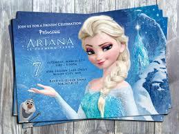 Frozen Birthday Invitations Disney Princess Frozen Elsa Birthday Party Printable Invitation Card