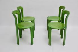 green dining chairs by bruno rey for kusch  co s set of