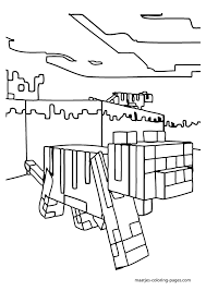 Small Picture Minecraft Horse Coloring Page Coloring Home