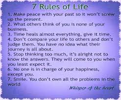 40 Rules Of Life Quote Pleasing 40 Rules Of Life Motivational Quotes Extraordinary 7 Rules Of Life Quote