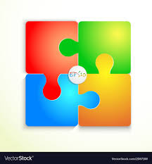 Paper Flat Puzzle Template Layout Royalty Free Vector Image