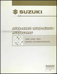 1999 2001 suzuki vitara grand vitara wiring diagram original