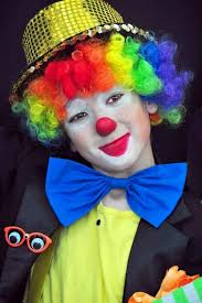 clown makeup kids costume colorful wig diy costume ideas