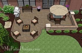 Plain Square Patio Designs Brick And Ideas O To Concept